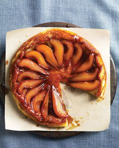 Martha's Pear Tart Tatin  I'll have to settle for regular pastry over puff pastry, but this looks like a contender for a Thanksgiving dessert. I also love the upside-down cooking method.