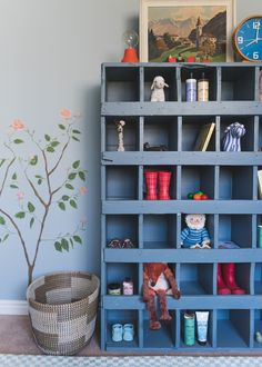 Before and After: Our baby boy nursery mural - The House That Lars Built