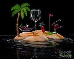 MG Limited Edition Wine & Spirits — Michael Godard Art Gallery & Store Godard Art, Duck Art, Wine Art, In Vino Veritas, Fantastic Art, Awesome Art, Wine And Spirits, Art World, Cool Art