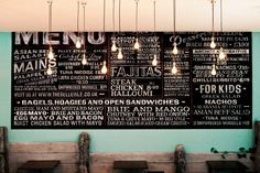 Wow. Typography heaven! Blackboards designed for THE BELLE ISLE in Chichester.