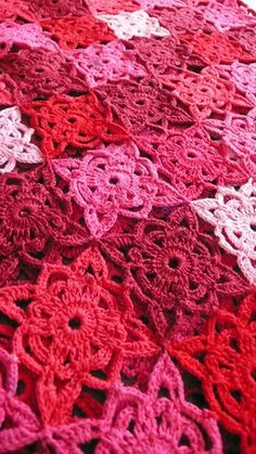 A beautiful granny square with a difference. Look how well these colours work together