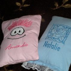 Lil' pillows for the grand girls