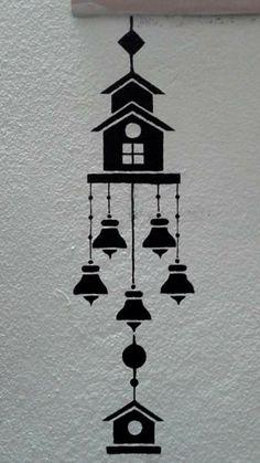 Home Decoration Quotes Ev dekorasyonu Simple Wall Paintings, Creative Wall Painting, Wall Painting Decor, Diy Wall Art, Diy Wall Decor, Diy Painting, Wall Art Designs, Paint Designs, Wall Design