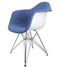 cbath designer orange woven fabric eames style accent arm chair