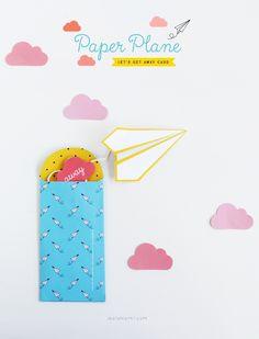 Printable Paper Plane Card