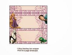 Tangled (Rapunzel) Free Printable Chocolate Labels.