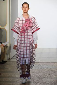 Interesting fabrics and layering in this new collection by Francesca Caserta #fashion