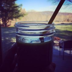 Enjoying some green juice in the comfort of a warm home. How do you stay healthy when you travel? #homefortheholidays #notNYC #housesitting #dogsitting #H2 #mixedgreens #H2juicery #yum #nom #greenjuice #vegan #healthy #weekend #juicing #cheers #fromwhereisit #homemade #fresh #coldpressed #organic #local #skinnyoutofthecity #eatrealfood #drinkyourveggies #drinkyourgreens