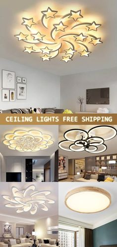 Modern Crystal LED Ceiling Lights For Living Room Bedroom Home Deco Ceiling Lamp – Lighting Led Ceiling Lights, Ceiling Lamp, Bedroom Ceiling, Living Room Lighting, Home Lighting, Lighting Design, Living Room Bedroom, Light Bedroom, Bedroom Bed
