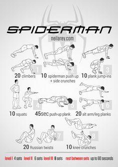 Spiderman Workout