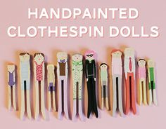 Handpainted Wooden Clothespin Dolls