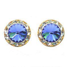 Blue Zircon - Swarovski Zirconia Crystal Ear Studs