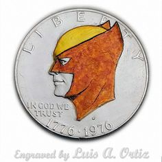 S1200 Wolverine Profile  Ike Hobo Nickel Engraved & Colored by Luis A Ortiz