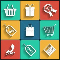 Universal Vector Color Flat Icons  #GraphicRiver         Editable EPS, Render in JPG format                     Created: 4 December 13                    Graphics Files Included:   JPG Image #Vector EPS                   Layered:   Yes                   Minimum Adobe CS Version:   CS             Tags      bag #basket #buy #calculator #cart #color #delivery #design #flat #gift #hand #icon #icon set #market #new #offer #open #phone #pictogram #retro #sale #set #shop #sign #sticker #stock…