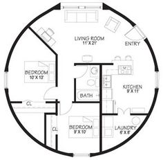 floor plan small dome home Round House Plans, House Plans With Photos, Small House Plans, House Floor Plans, Cob House Plans, Cabin Plans, The Plan, How To Plan, Monolithic Dome Homes