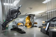 Image 9 of 45 from gallery of Lascaux IV / Snøhetta + Duncan Lewis Scape Architecture. Photograph by Boegly + Grazia photographers Museum Architecture, Interior Architecture, Interior Design, Organic Architecture, Concept Architecture, Futuristic Architecture, Exhibition Space, Museum Exhibition, Exhibition Display