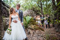 This wedding reads like a woodland fairytale. A beautiful Bride, a dashing Groom and a seriously romantic love story - all coming together on a special day in the Kangaroo Valley surrounded by their n. Gypsy Wedding, Wedding Bells, Dream Wedding, Celebrity Weddings, Celebrity News, Rebecca Breeds, Wedding Engagement, Engagement Photos, Luke Mitchell