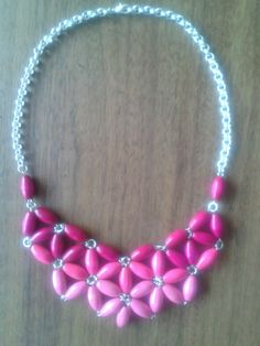 statement necklace, pink