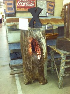 Hollow Log Ideas | Lighted hollow log from June Peevy