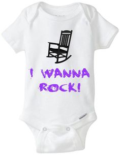 I Wanna Rock Star Baby Onesie Rocking Chair / Twisted Sister / 80's Metal Funny Shirt / Hair Bands / Baby Shower Gift / Preemie Clothes