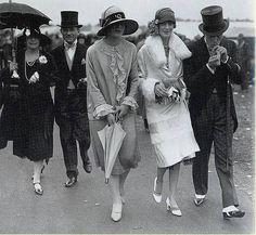 La mode des années folles  -  Les courses à Ascott en 1926.