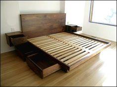 Platform Bed Frame With Drawers Schlafzimmer Ideen, Kinderzimmer,  Wohnzimmer, Matratze, Bett Selber