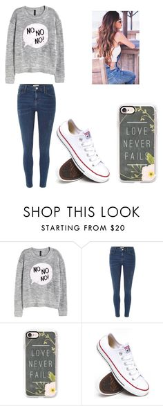 """""""Untitled #402"""" by jessica-smith-xxv ❤ liked on Polyvore featuring H&M, River Island, Casetify and Converse"""