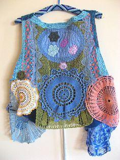 Vintage Crochet Chaleco Custom Order instancia de parte Porción AllThingsPretty