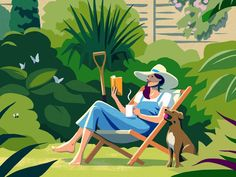 Digital Art: 12 Awesome Illustrations In All The Shades Of Summer : 12 Awesome Illustrations in All the Shades of Summer digital art illustration - Digital Art Illustration Vector, Vector Art, Art Illustrations, Garden Illustration, Character Illustration, The Guardian, Designs To Draw, Character Design, Digital Art