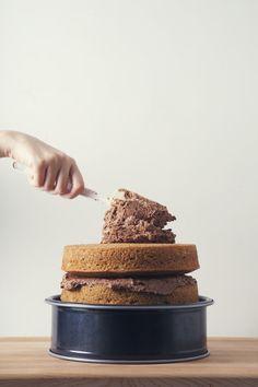 Vegan Cake | 2-Schicht-Vanille-Torte mit Buttercreme Zuckerguss |