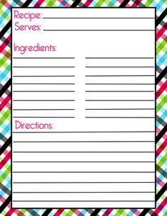 Momready templates class recipe book template for Homemade cookbooks template