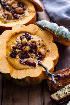 chipotle-pumpkin-soup-crispy-chorizo-caramelized-apples/