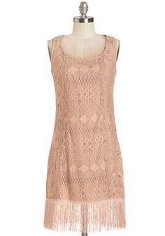 Deco Dance Dress. Turn on the timeless tunes, cause this lacy, dusty-rose-hued shift was made for dancing. #pink #modcloth