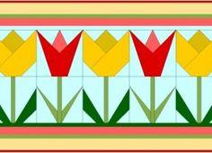 Tulip Paper Pieced Quilt Block