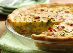 Broccoli and Bacon Quiche