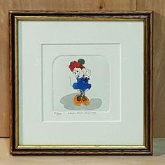 Disney LE 500 MINNIE MOUSE Hand Painted SOWA & REISER Etching Framed Art#Disney #Cartoon #Etching #MinnieMouse #Sowa #Reiser