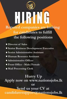 Company Job, Administrative Assistant, Front Office, Human Resources, How To Apply, Positivity, Business, Store, Business Illustration
