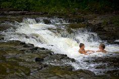~ Ocqueoc Falls - 11.5 miles west of Rogers City, just off M-68 Hwy., Presque Isle, MI 49759 ~