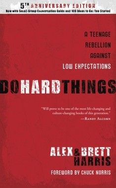 """""""What does your teen expect of him or herself? And I don't mean when it comes to college or a 'someday' career, but right now. In 'Do Hard Things,' Alex and Brett Harris write directly to teens with a challenge to rebel against our culture's low expectations. This book will revolutionize the way you and your teen view these 'launching pad' years."""""""
