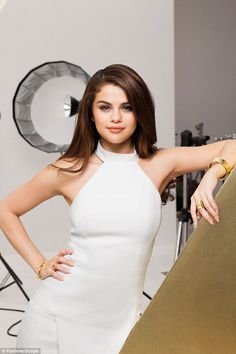 Tough: It's easy to see why Selena was chosen to be the face of the haircare brand...