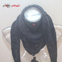 Herzschlüssel: Perlen-Dreieckstuch, Perlen-Dreieckstuch, gestrickt, Handarbeit, Glasperlen, lampwork, DIY