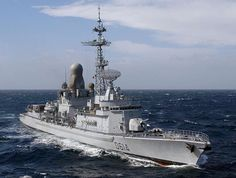 French Marine Nationale anti aircraft frigate FS Cassard (D 614).