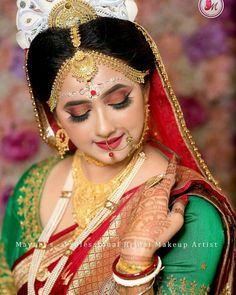 Bengali Bridal Makeup, Bridal Portraits, Girl Pictures, Embroidery Designs, Halloween Face Makeup, Wonder Woman, Superhero, Beautiful, Women