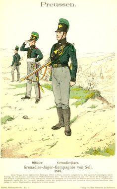 Preußen. Grenadier-Jäger-Kompagnie von Sell. 1807, by Richard Knötel.