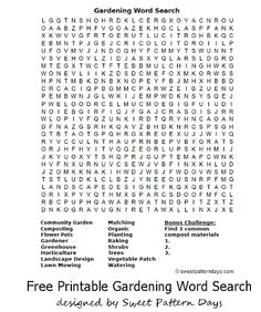 1000 images about garden club on pinterest garden for Gardening tools word search