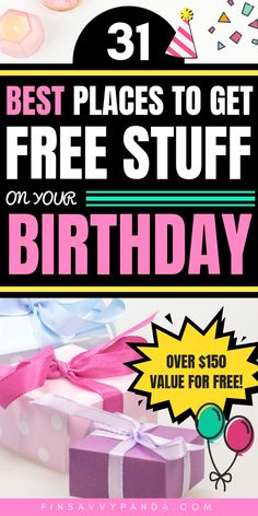 Don't miss out on the best birthday freebies! YES, get free stuff on your birthday! What better way to save money on your birthday? Get FREE gift cards too! Free On Your Birthday, Its My Birthday Month, Birthday Deals, Birthday Freebies, Birthday Free Stuff, Birthday Rewards, Free Stuff By Mail, Get Free Stuff, Best Money Saving Tips