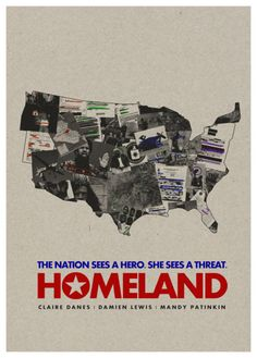 Homeland illustration - great concept, but they spelled Damian Lewis' name wrong