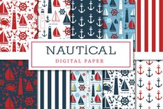 Nautical Digital Paper by Lilly Bimble on @creativemarket