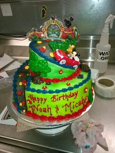 Mickey mouse two tier cake kit