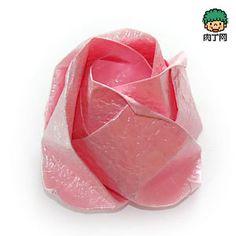 QT紙玫瑰花的折法圖解╭★肉丁網